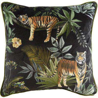 Jungle Tiger Cushion Black