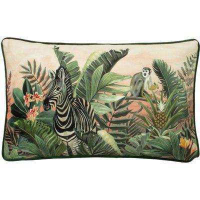 Manyara Zebra Rectangular Cushion Multicolour