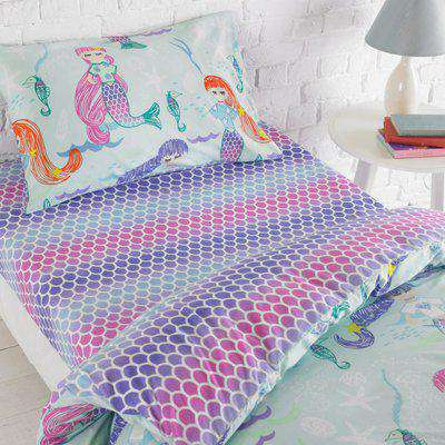 Mermaid Kids Fitted Bed Sheet Multicolour