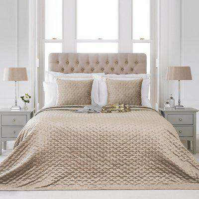 Moonlight Embroidered Bedspread Champagne