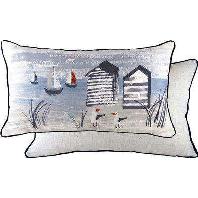 Nautical Beach Rectangular Cushion Multicolour