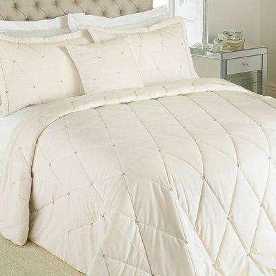 New Diamante Bedspread Cream