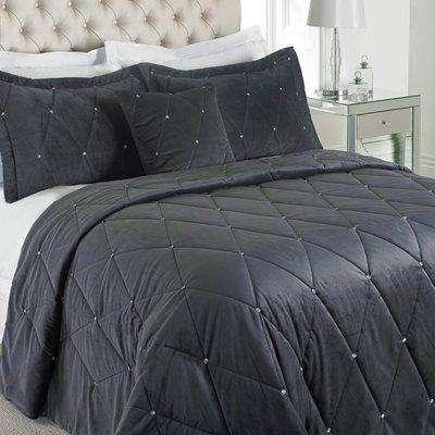 New Diamante Bedspread Pewter