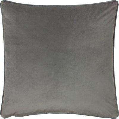 Opulence Soft Velvet Cushion Steel