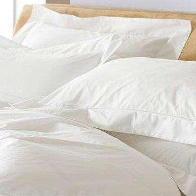 Oxford 200TC Border Panel Pillowcase White