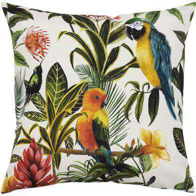 Parrots Outdoor Cushion Multi/Teal