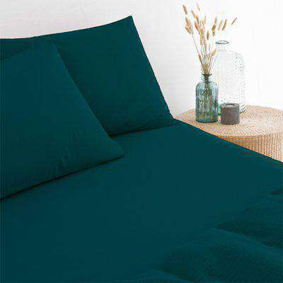 Stonewash Fitted Bed Sheet Teal