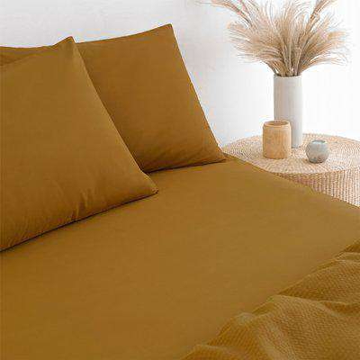 Stonewash Fitted Bed Sheet Ginger