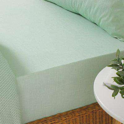 Stonewash Fitted Bed Sheet Seafoam