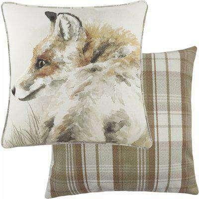 Watercolour Fox Cushion Multicolour