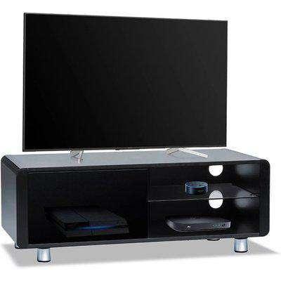 Abilon High Gloss 2 Shelves TV Stand In Black