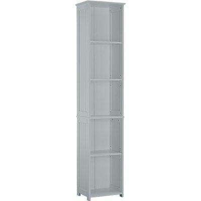 Adamo Bathroom Storage Unit In Grey With 5 Compartment