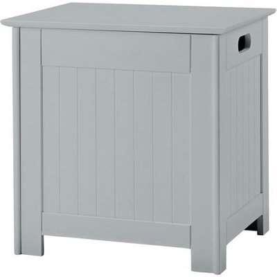 Adamo Wooden Bathroom Laundry Box In Grey