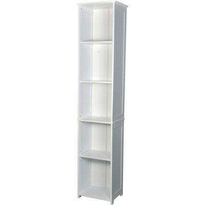 Adamo Wooden Tall Storage Unit In White With Shelves