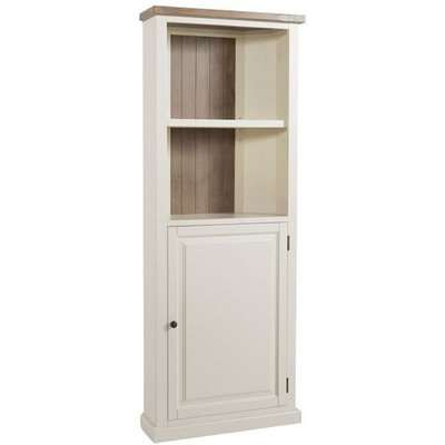 Alaya Corner Display Cabinet In Stone White Finish