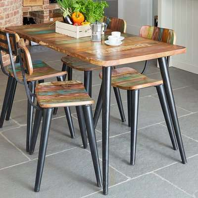Albion Large Rectangular Dining Table In Reclaimed Wood