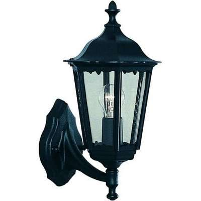Nash Outdoor Wall Light In Black With Clear Glass