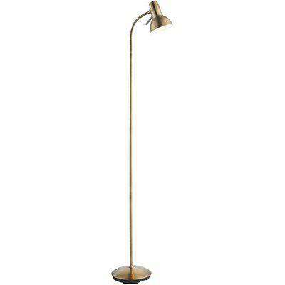 Amalfi Task Floor Lamp In Antique Brass And Gloss White
