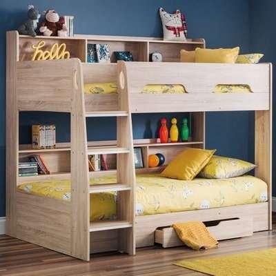 Amilia Wooden Bunk Bed In Sonoma Oak
