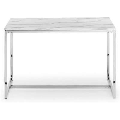 Angeles Gloss White Marble Effect Rectangular Console Table