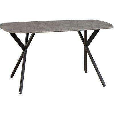 Athens Dining Table In Concrete Effect And Black