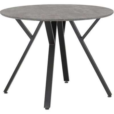 Athens Round Dining Table In Concrete Effect