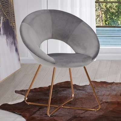 Barclay Velvet Dining Chair In Black With Gold Steel Legs