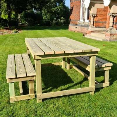 Barkingside Wooden Outdoor 6 Seater Dining Set