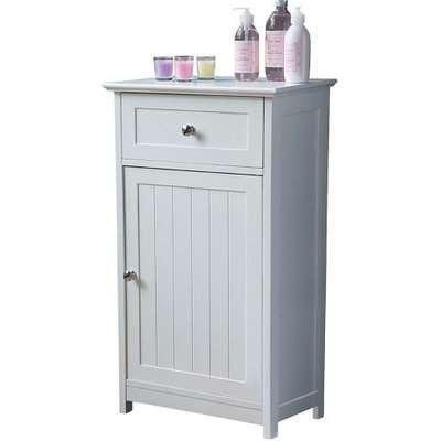 Bathroom Floor Standing Storage Cabinet In White