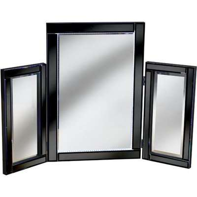 Bevelle Black Dressing Table Mirror