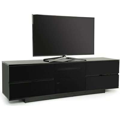 Boone Ultra TV Stand In Black High Gloss With Four Drawers