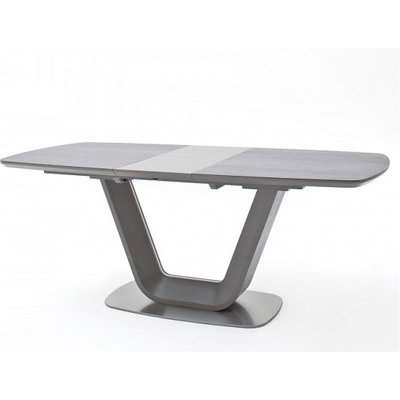 Brevard Extendable Dining Table In Anthracite And Grey