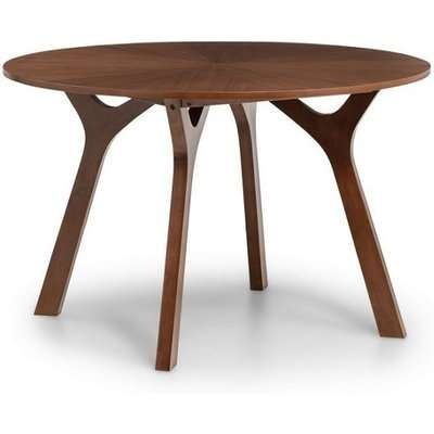 Bromley Wooden Dining Table Round In Walnut