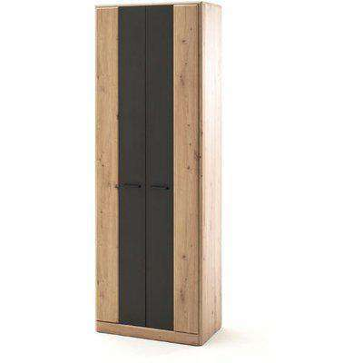 Calais Wooden Wardrobe In Planked Oak With 2 Doors