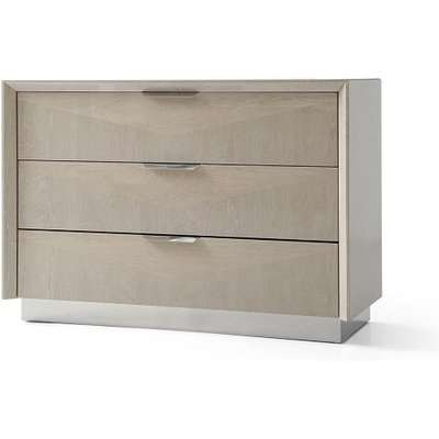 Canaria Dresser In Cream Walnut High Gloss With 3 Drawers
