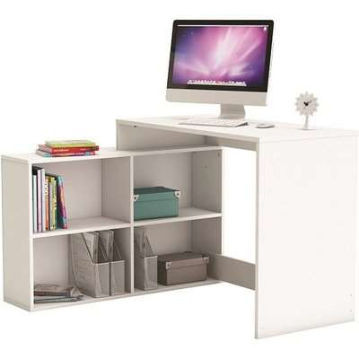 Capius Modern Corner Computer Desk In Shannon Oak