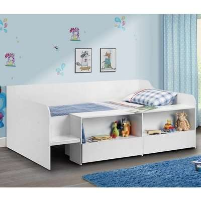 Carolyn Low Sleeper Children Bed In White With 2 Drawers