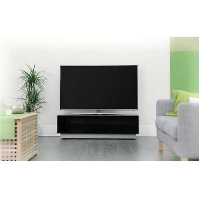 Castle LCD TV Stand In Black With Two Glass Door