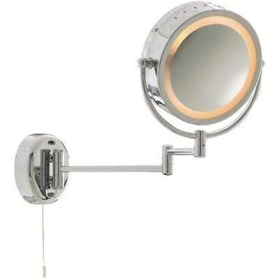 Chrome Bathroom Mirror With Adjustable Arm