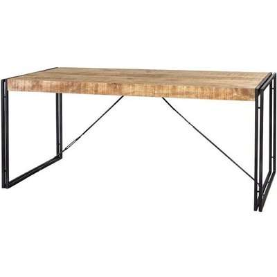 Clio Industrial Large Wooden Dining Table In Oak