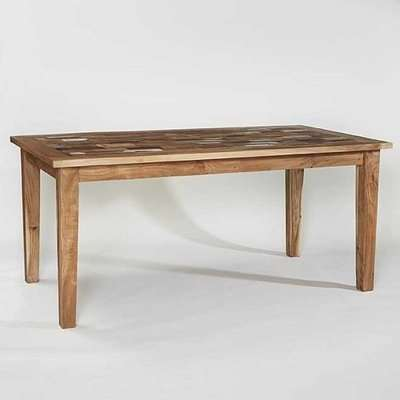 Coburg Wooden Dining Table Rectangular In Reclaimed Wood