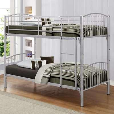 Corfu Steel Bunk Bed In Silver