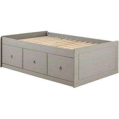Corina Single Cabin Bed With Grey Washed Wax Finish