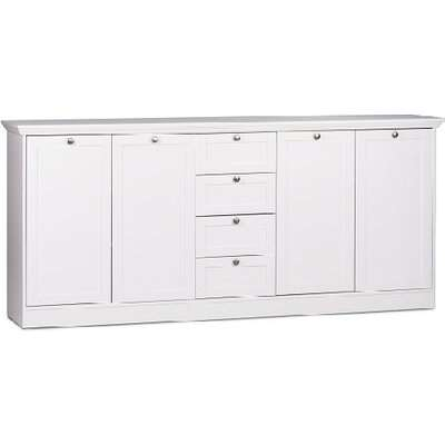 Country Sideboard In White With 4 Doors And 4 Drawers
