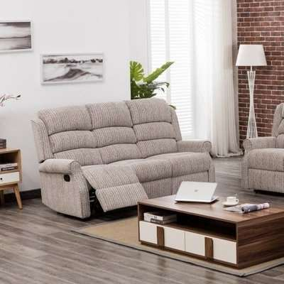 Curtis Fabric Recliner Sofa Suite In Natural