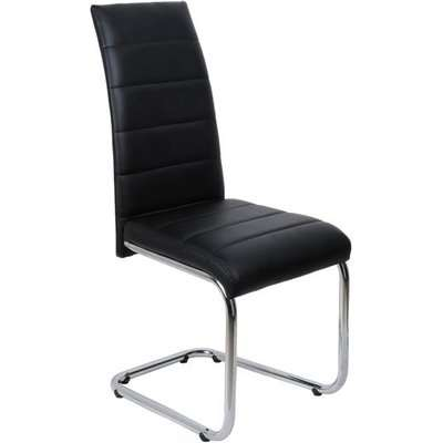Daryl Dining Chair In White PU Leather With Stainless Steel Legs