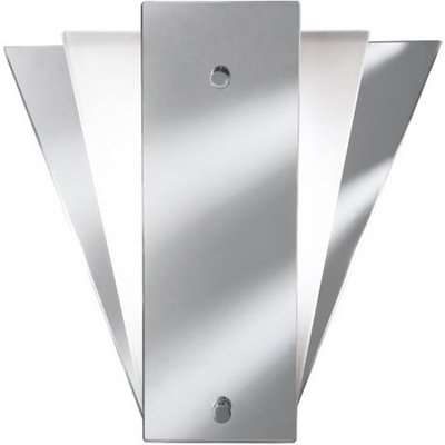Deco Fan Style Frost Mirror Wall Lamp With Glass Panel