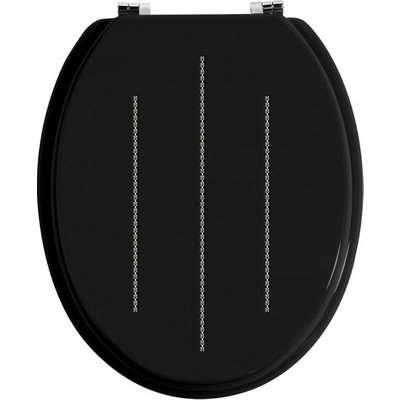 Diamante Black Toilet Seat