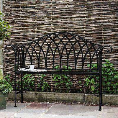 Duchmano Outdoor Metal Noir Bench In Black