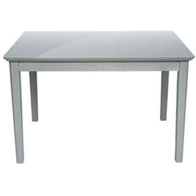 Elgin Glass Top Dining Table In Grey